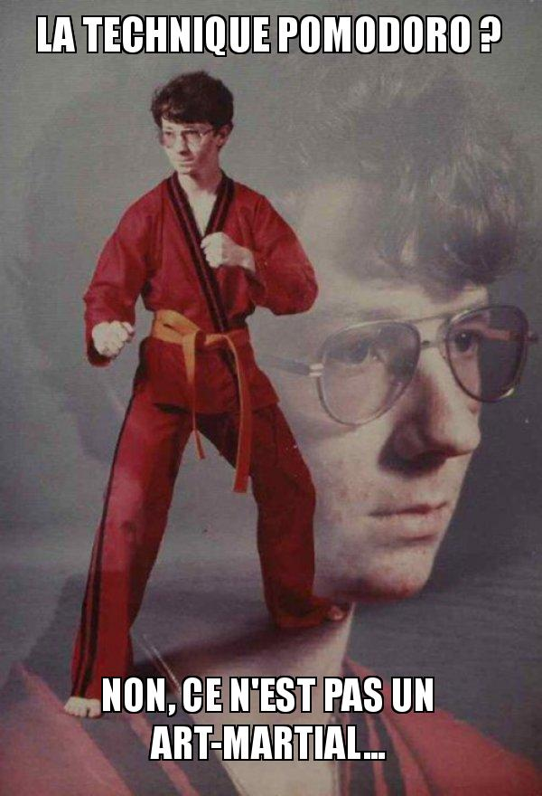 La technique pomodoro n'est pas un art martial... mais ça pourrait!
