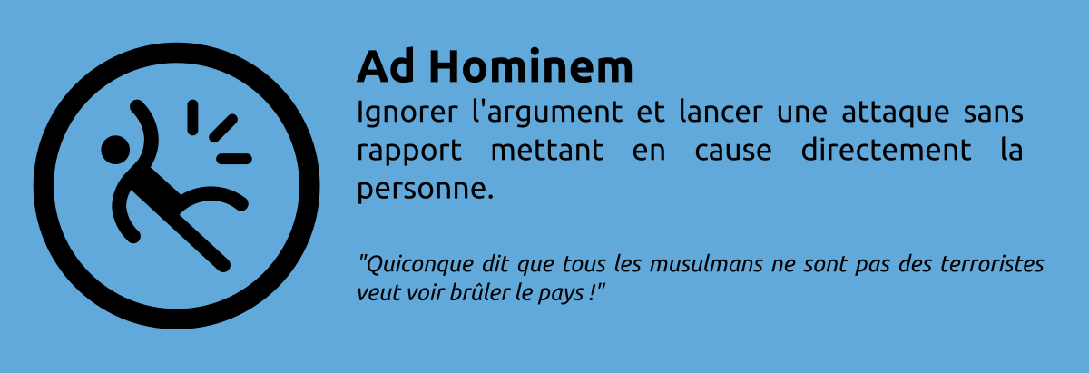 Sophisme - Ad Hominem