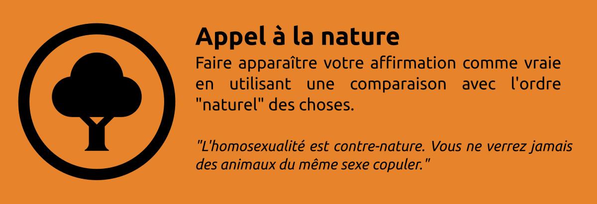 Sophisme - Appel à la nature