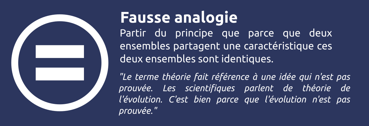 Sophisme - Fausse analogie