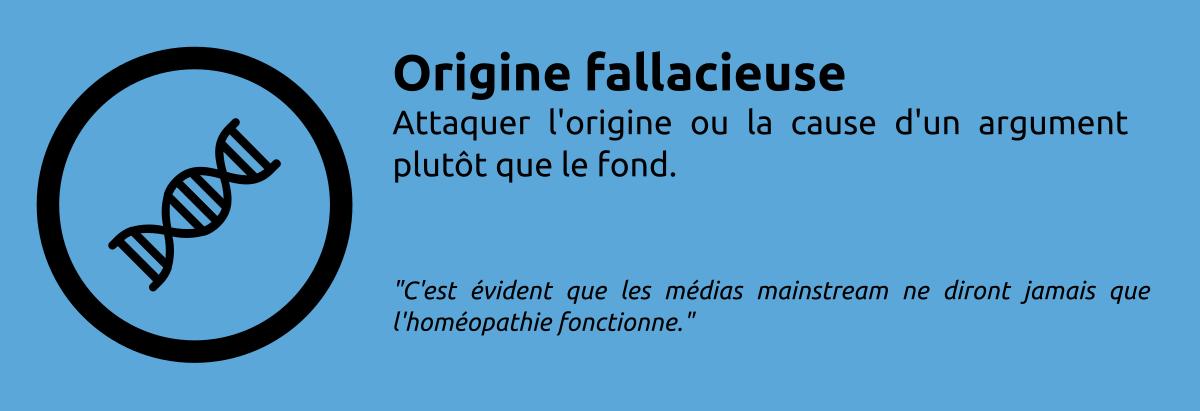 Sophisme - Origine fallacieuse