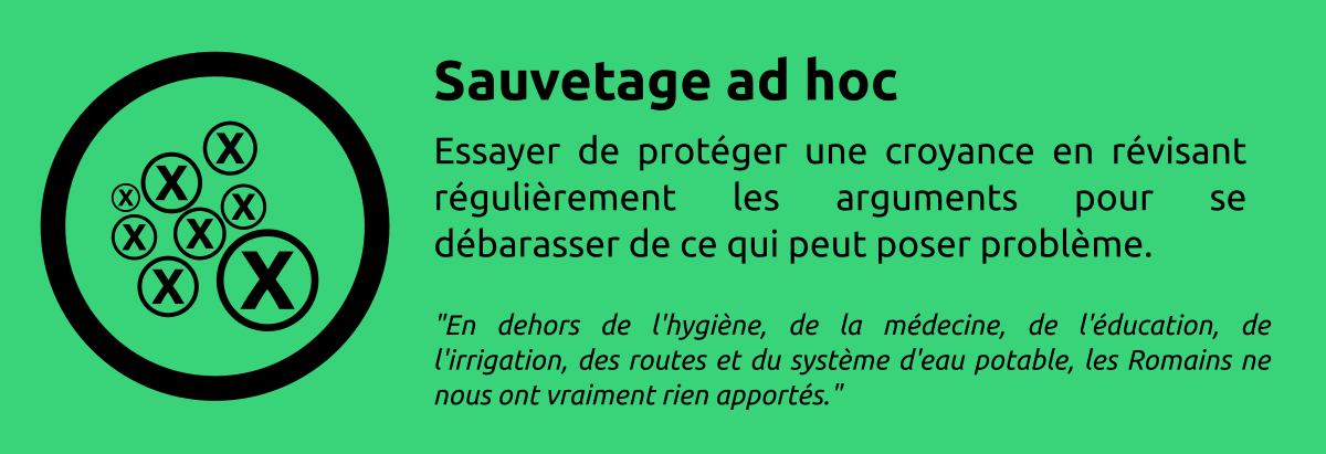 Sophisme - Sauvetage ad hoc
